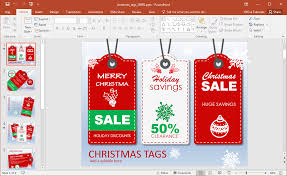 Sales Ppt Template Animated Christmas Sales Powerpoint Template