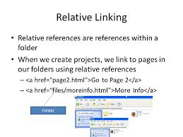 Hyperlink Basics Relative vs. Absolute Linking. Absolute Linking ...