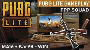 PUBG LITE | SQUAD | FPP Gameplay
