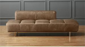 the latest leather daybed sofa lawndale saddle with brass base review c trundle costco cover australium