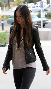 megan fox black leather blazer jacket