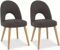 dining chair design. Bentley Designs Oslo Oak Dining Chair Steel Fabric Upholstered (Pair) Design