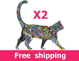 Small Picture 2 abstract cat wall decals elegance cat wall decal design