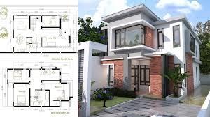 4 Bedroom Modern Home Plan Size 8x12m