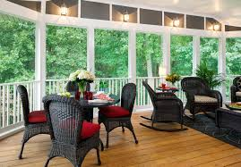 seatingtable in the screen porch good for plants when not needed and screened porch lighting ideas