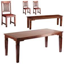 Essgruppe Kolonialstil Esszimmertisch 3 Stühle Und Sitzbank