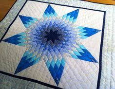 Rainy Day Star by Lorraine Olsen, a miniature quilt in her book ... & Blazing Star quilted wall hanging by Pamela Quilts Adamdwight.com