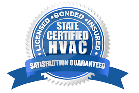 certified and bonded HVAC logo
