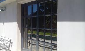 aluminium doors with small window panes