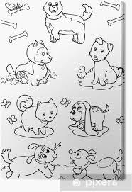 Schattige Eenhoorn Kleurplaat Collectie Canvas Zeven Honden Leuke
