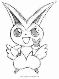 Disegni In Bianco E Nero Da Copiare Disegno Pokemon Victini 2