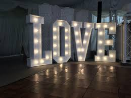 Giant Light Up Letters Giant Light Up Love Letters At Hayne Barn House In Kent