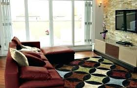 red brown and cream area rugs living room yellow rug on wooden floor