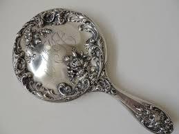antique hand mirror. Modren Mirror Sterling Silver Hand Mirror Foster U0026 Bailey  To Heart Antiques  Ruby  Lane In Antique 0