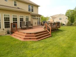large corner deck steps
