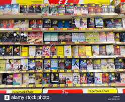 Paperback Books For Sale In A Tesco Store Stock Photo
