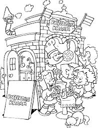 Kids N Fun Kleurplaat Kermis Poffertjes Kraam