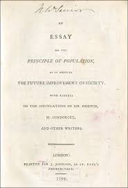 essay on the principle of population  an essay on the principle of population 1798