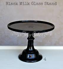 black milk glass labelled