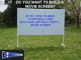 outdoor projector diy projector screen material outdoor night backyard party camp outdoor projector