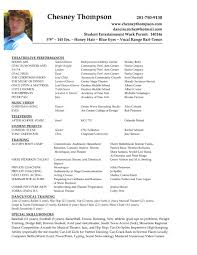Resume Actor Sample Resume For Study