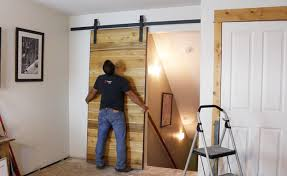 how to make a sliding barn door diy pete