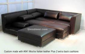 Modern Leather Sofa Bed Sectional I For Design Decorating
