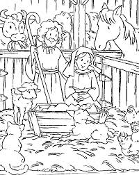 Christmas Scene Colouring Pages Scene Coloring Pages Sleigh