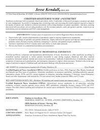 Nurse Anesthetist Resume Simple Example Nurse Anesthetist Resume Free Sample Crna Cover Letter