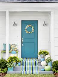 turquoise front doorTurquoise and Blue Front Doors  with Paint Colors