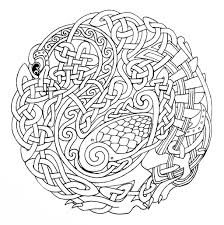 Printable Celtic Designs Coloring Pages Printable Celtic Mandala Coloring Pages Celtic Mandala
