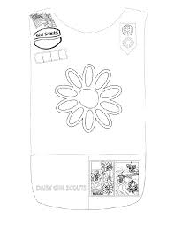 Small Picture color page daisy tunic Girl Scout Daisy Pinterest Daisy