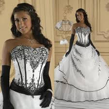 vintage black and white wedding dresses ball gown soft sweetheart