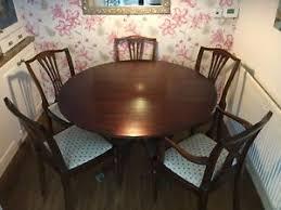circular furniture. Image Is Loading ROUND-DROP-LEAF-CIRCULAR-DINING-TABLE-WITH-6- Circular Furniture