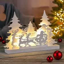 Details Zu Led Holz Silhouette Weihnachtszauber Fenster Tisch Deko Weihnachtsdeko Rentier