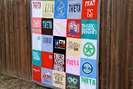 T Shirt Quilt Patterns Amazing DIY TShirt Quilt Part One Of Two Caroline Hulse Blog