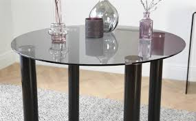 solar round black glass dining table with 4 renzo black chairs only 229 99 furniture choice