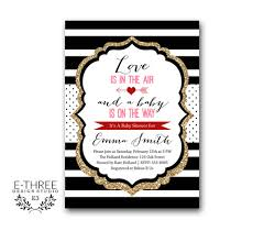 Valentines Day Invitations Fascinating Valentines Baby Shower Invitations Modern Black Gold Red And