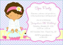 Spa Birthday Invitation Template Party On Invitations Images Free