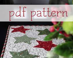 Christmas Table Runner Patterns Adorable Table Runner Pattern Etsy