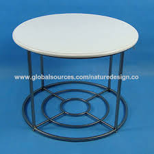china modern round coffee table white mdf table top circle design base plate