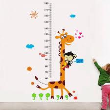 Giraffe Chart Walkart Large Wallstickers 7516 Kids Giraffe Height Chart Design Sticker