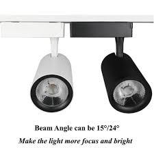 spotlight track lighting. Track Lighting Rail Spotlight 30W Black White Clothing Shop Windows Showrooms Store COB LED H