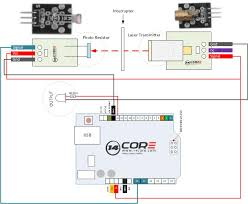 wiring the laser transmitter on photocell microcontroller wiring diagram for module 37 in 1 sensor kit 14core soure code
