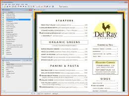 restaurant menu maker free restaurant menu maker software naomi show