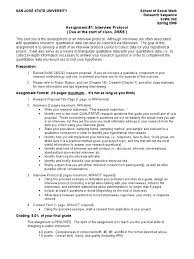 242 Assignment 1 Interview Protocol Interview Qualitative Research