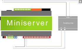 documentation loxone accessories wiring guides example on how to wire a coupling relay to loxone miniserver