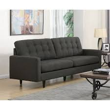 Mid century modern furniture Vintage Rc Willey Coaster Kesson Mid Century Modern Sofa In Charcoal 505374