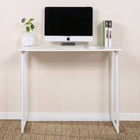 Office writing table Metal Product Image Ktaxon Folding Writing Computer Desk Home Office Study Pc Writing Tablewhite Walmart Writing Desks Walmartcom