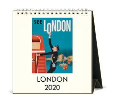2020 Cavallini Co London Desk Calendar